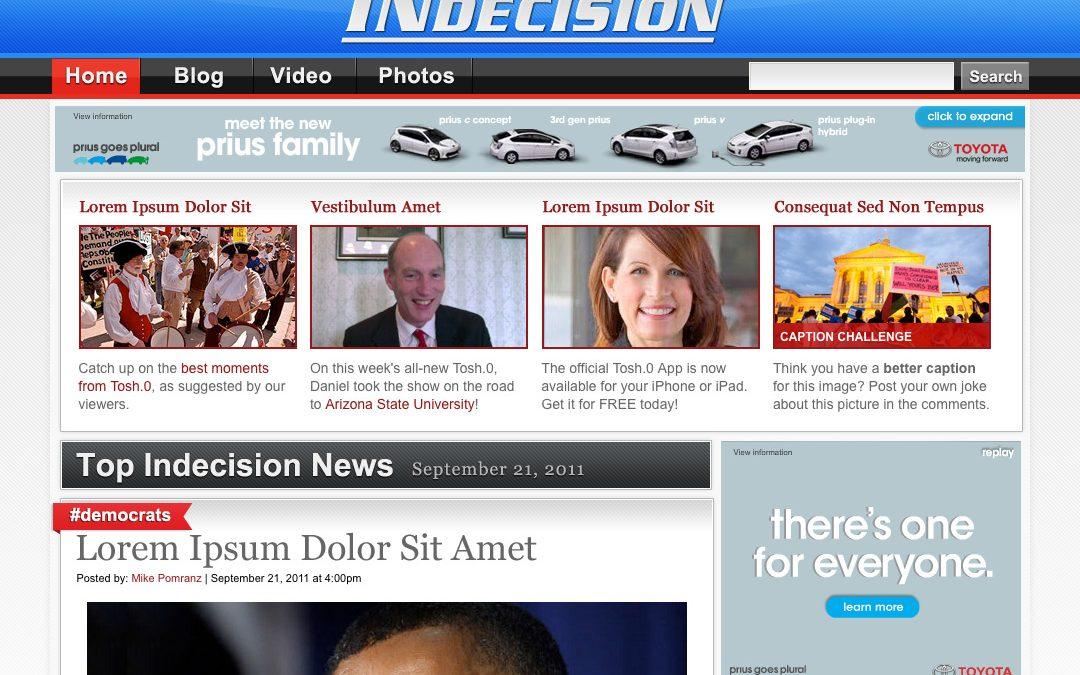 Indecision Website