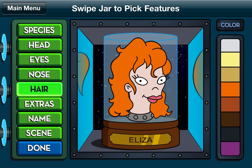 Futurama Head-In-A-Jar App