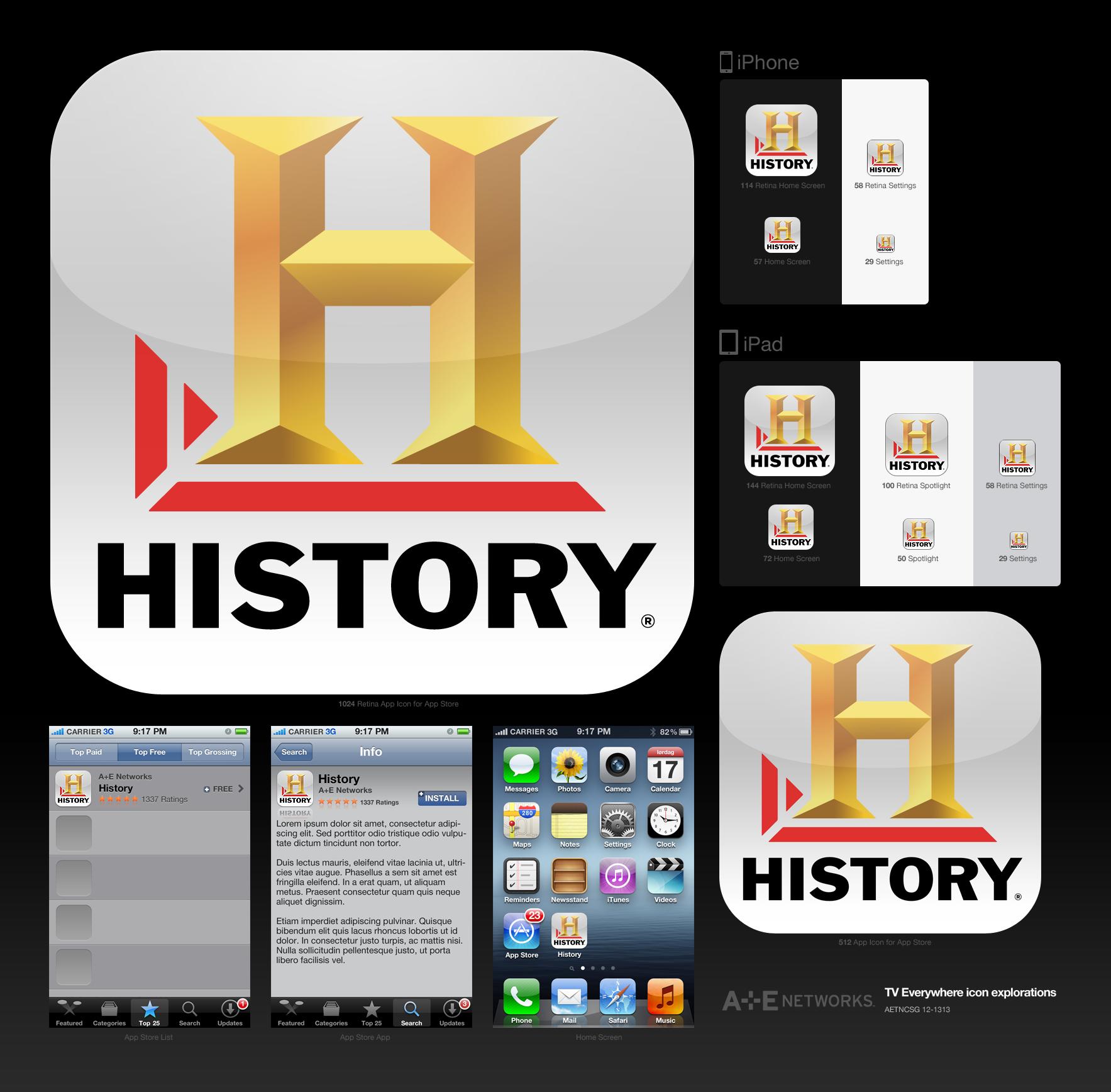TV Everywhere App Icons