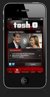 Tosh.0 for iPhone
