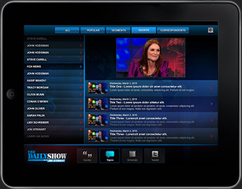 The Daily Show for iPad App
