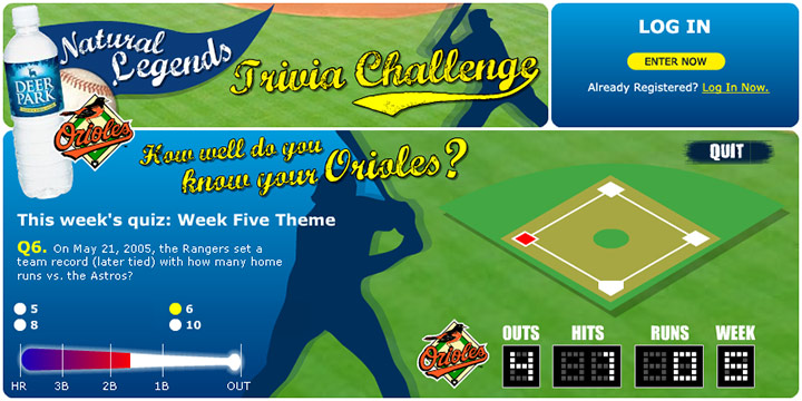 Natural Legends Baseball Trivia