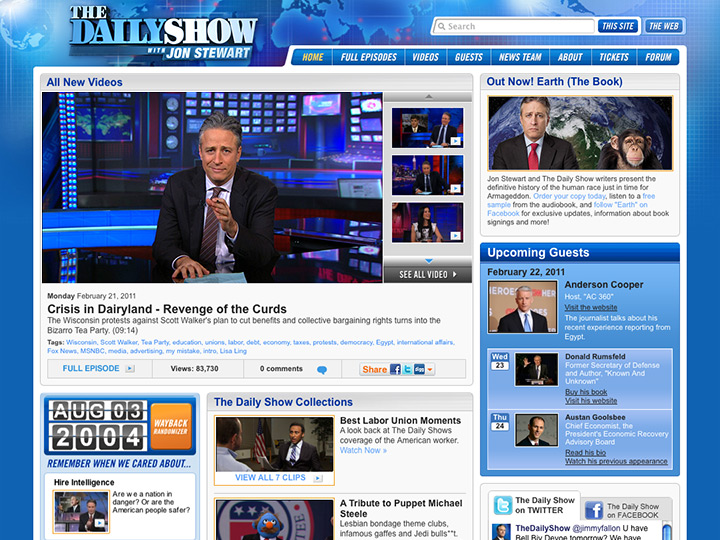 The Daily Show with Jon Stewart Website