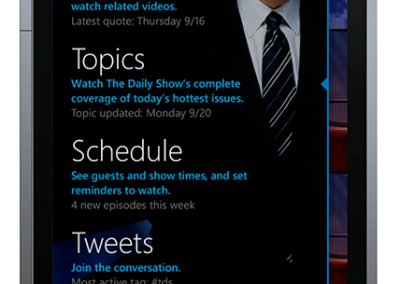 The Daily Show Windows Phone App