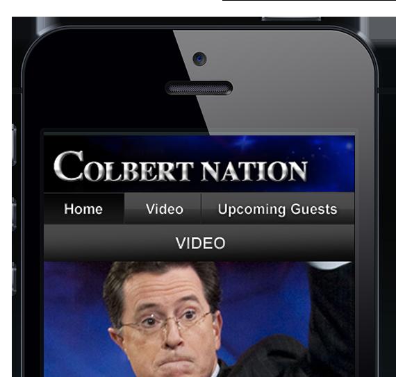 The Colbert Report Mobile Site