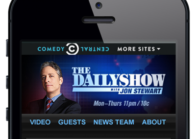The Daily Show Mobile Site