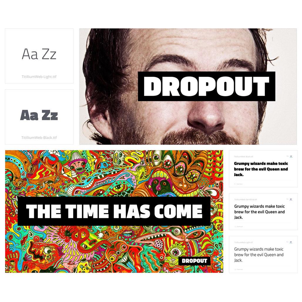 dropout-brand-font