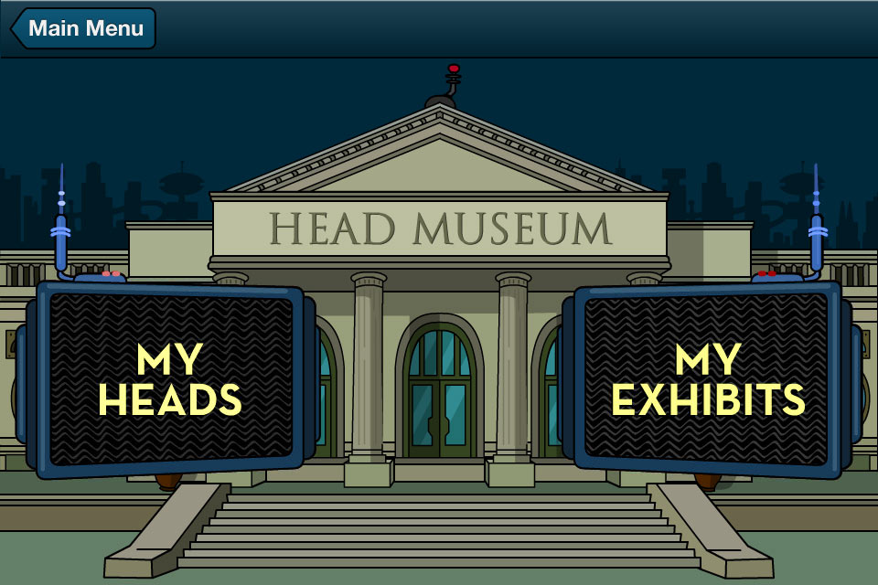 iPhoneFuturamaApp_9_HeadMuseum