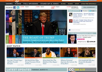 Comedy Central Homepage Redesign